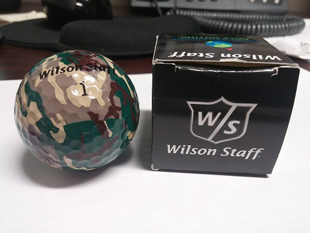 Camouflaged golf ball
