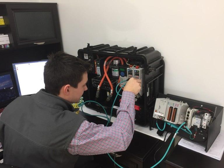 James testing control system