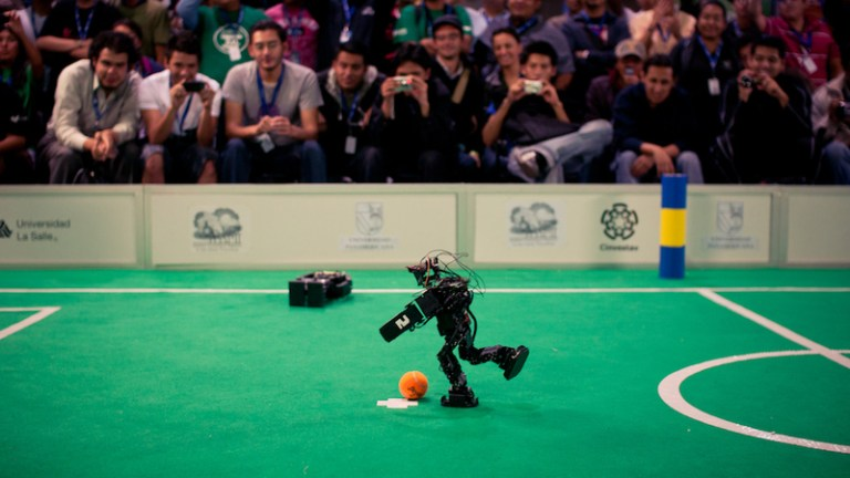 Soccer-playing robot