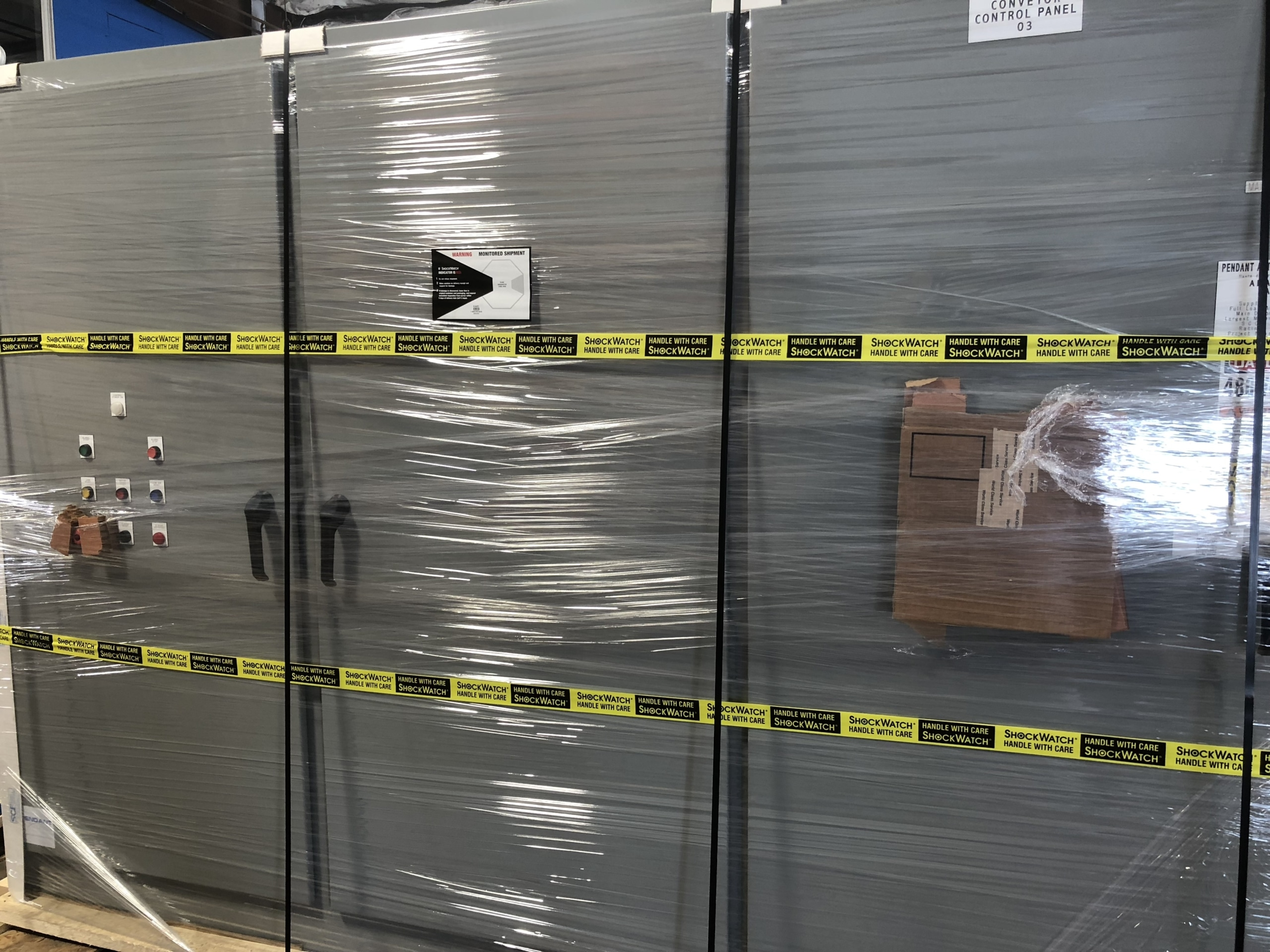 Control panel shipping