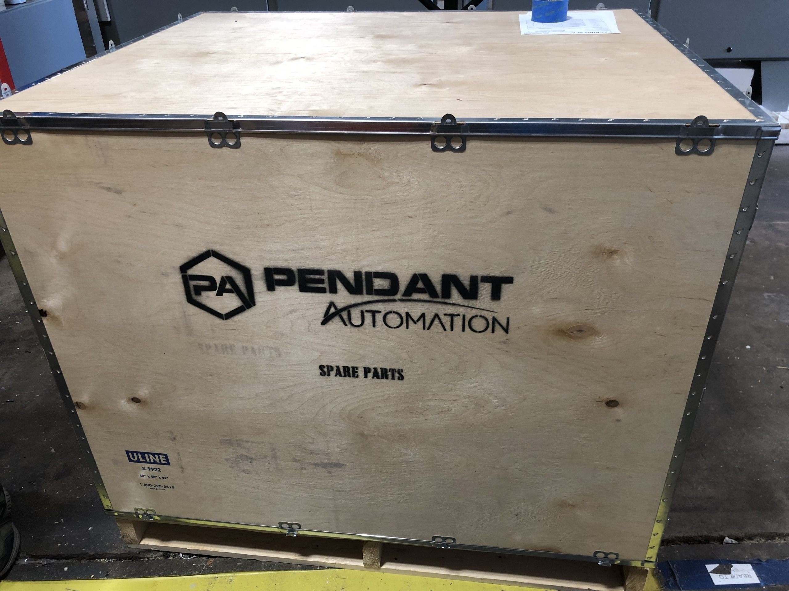 Automation parts shipping crate